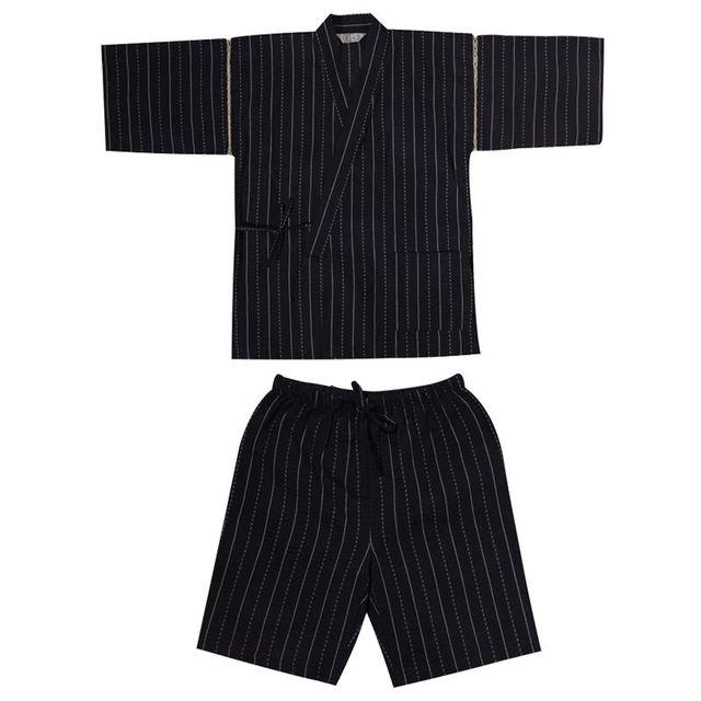 Los hombres de Algodón Hombres Traje Japonés Yukata Kimono Tradicional Estilo Japonés Albornoz Pijamas de Verano establecido 82003