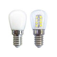 Светодиодная лампа E14, 3 Вт, с теплым/холодным белым светом, водонепроницаемая светодиодная энергосберегающая лампа для холодильника, микроволновой печи