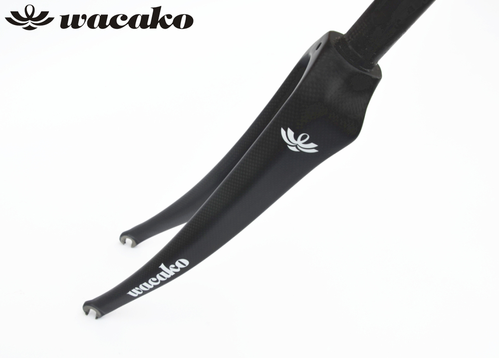 wacako full Carbon Fork New Style Road Bike Fork Bicycle Parts 1-1/8 700c Superlight 354g 3k Finish Cycling Accessories full carbon road bicycle carbon tapered 1 1 2 fork 700c cycling carbon road racing bike fork for fixed gear and road bikes
