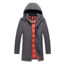 2017 New Fashion Winter Jacket Men Snow Hooded Warm Coats Parkas Men Thick Long Solid Men's Jackets For Deep Winter -30