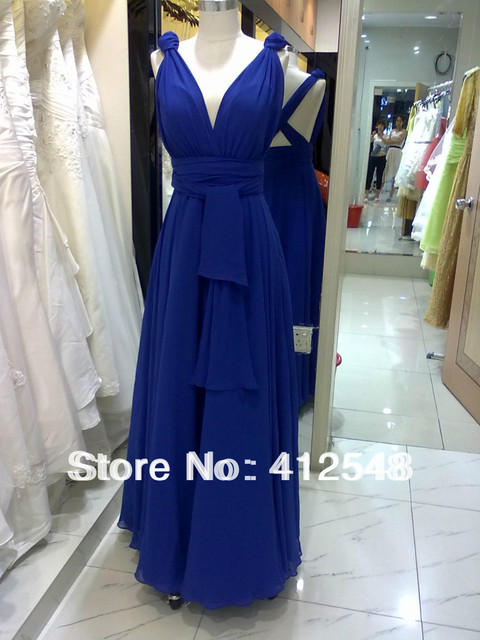 Real Sample INFINITY wrap Multi-Way convertible maxi dress Full Length  wedding Bridesmaid Dress formal party gown Free Shipping 828a971b92c9