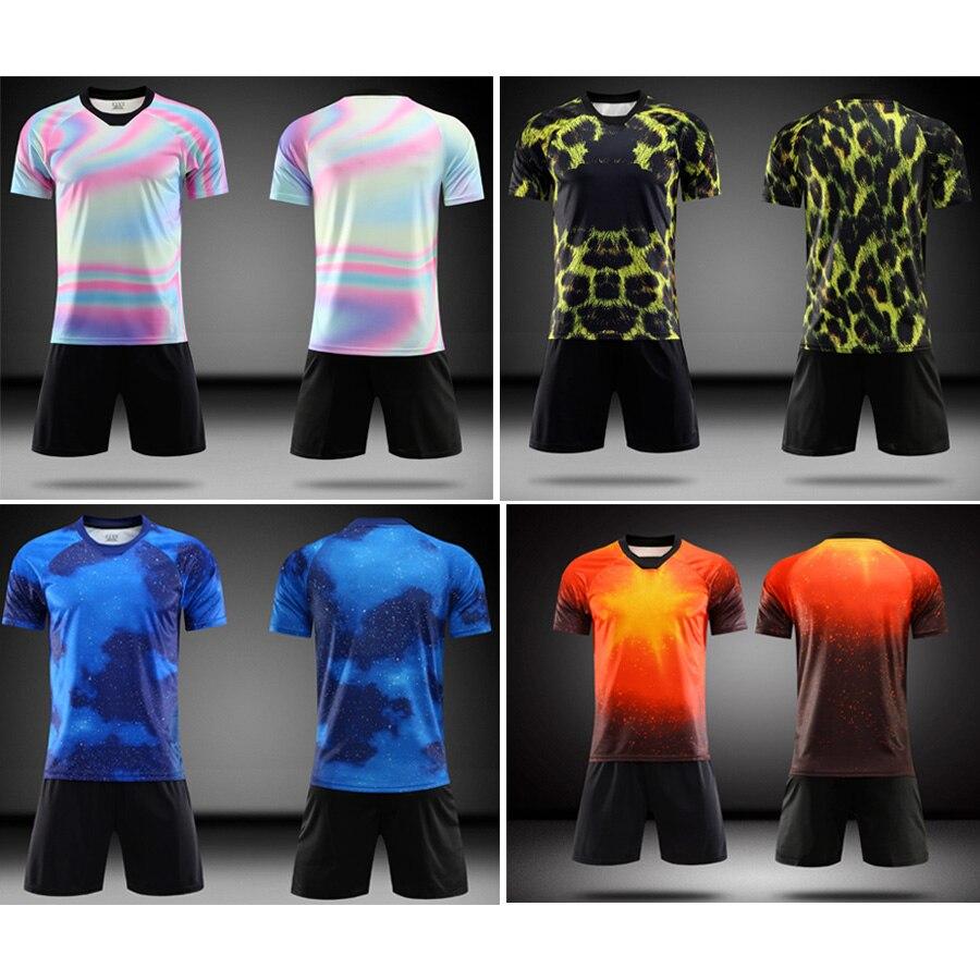 2019 new adult football sports suit men s football jersey suit football uniform custom name logo