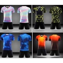 2019 Новый взрослый футбольный спортивный костюм для мужчин, комплект из Джерси Футбольная форма изготовленный на заказ логотип, название