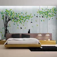 Grand arbre autocollant Mural salon amovible PVC Stickers muraux famille bricolage affiche Stickers muraux Art Mural décor à la maison