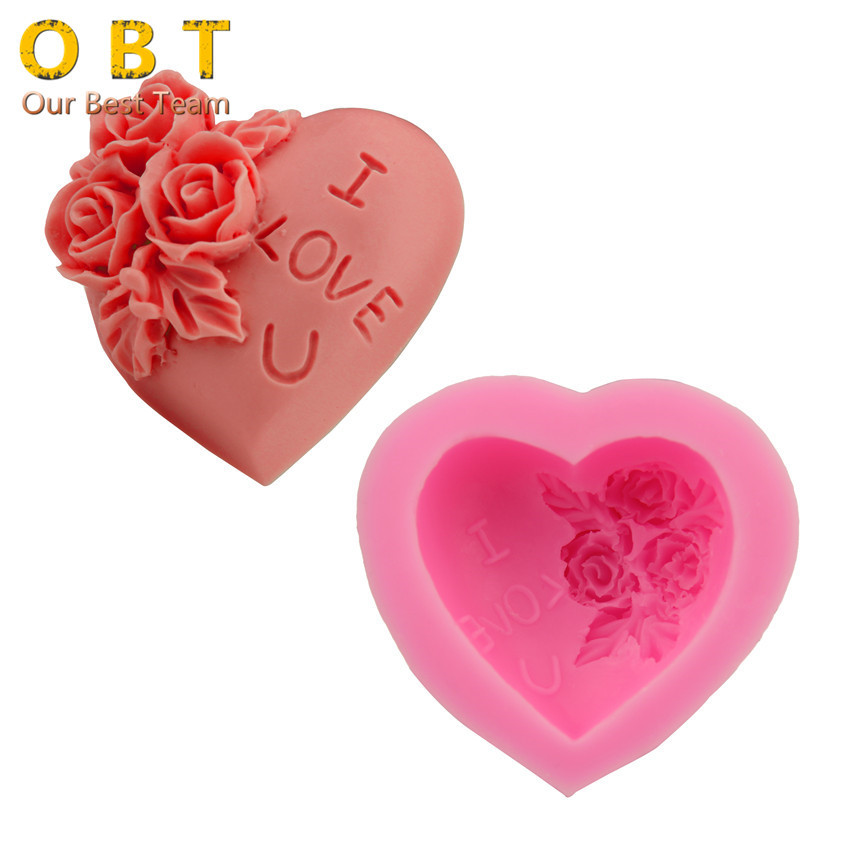 Love Shape Cake Decoration