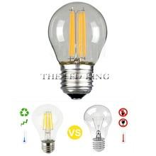 Диммируемая Светодиодная свеча 220 В, лампа накаливания G45 A60 светильник, светодиодная лампа A60 C35 G45 220 В COB, светильник ная лампа накаливания дл...