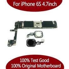 16GB 64GB เต็มรูปแบบปลดล็อคสำหรับ iPhone 6s เมนบอร์ดโดยไม่มี Touch ID, 100% สำหรับ iPhone 6s Logic บอร์ดระบบ IOS