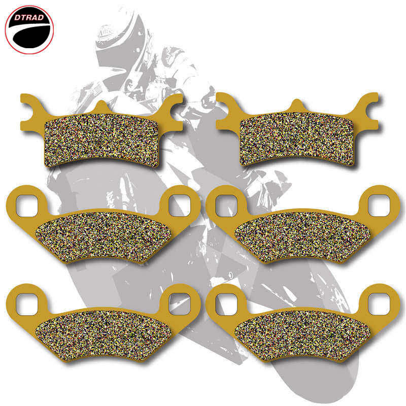 Motorcycle Brake Pads Front+Rear For POLARIS ATV 500 Scrambler 05-12 500 Sportsman 03-08 600 03-05 700 02-04 800 05-15 regulator rectifier for polaris atv ranger sportsman hawkeye 400 500 improved 4011569 4011925 4012192 motorcycle accessory m076