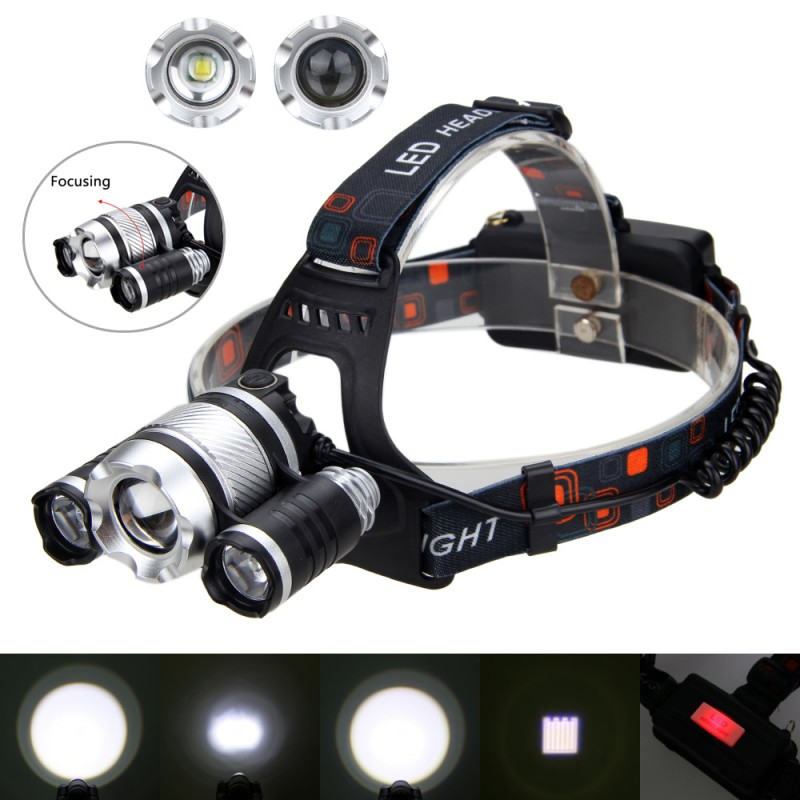 20000 Lumen T6 LED 3//4Modes USB Car Rechargeable  Flashlight Torch Zoom Lamp Li