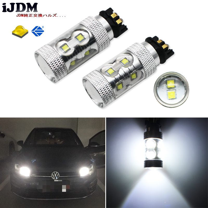 buy ijdm canbus xenon white 50w xb d pw24w pwy24w led bulbs for audi for bmw. Black Bedroom Furniture Sets. Home Design Ideas