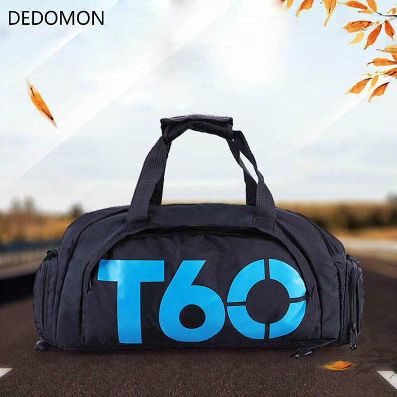 T60 impermeable gimnasio bolsas de deporte de las mujeres de los hombres molle de entrenamiento de Fitness mochilas para multifuncionales viaje/equipaje bolsa de hombro bolsos