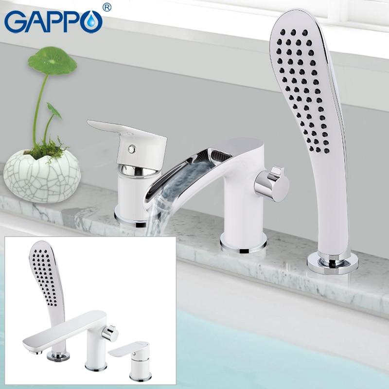 GAPPO vasca da bagno rubinetto della vasca da bagno doccia Bagno Doccia Rubinetto rubinetto cascata vasca da bagno rubinetto doccia sistema di robinet banheira rubinetto GA1148-8