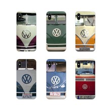 For Samsung Galaxy A5 A6S A7 A8 A9S Star J4 J6 J7 J8 Prime Plus 2018 Accessories Cases Covers Volkswagen VW Minibus T1 Pink Blue(China)