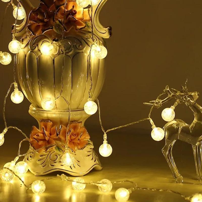 Battery Operated Outdoor String Lights Globe: 4m 40pcs Battery Operated Globe LED String Lights Ball