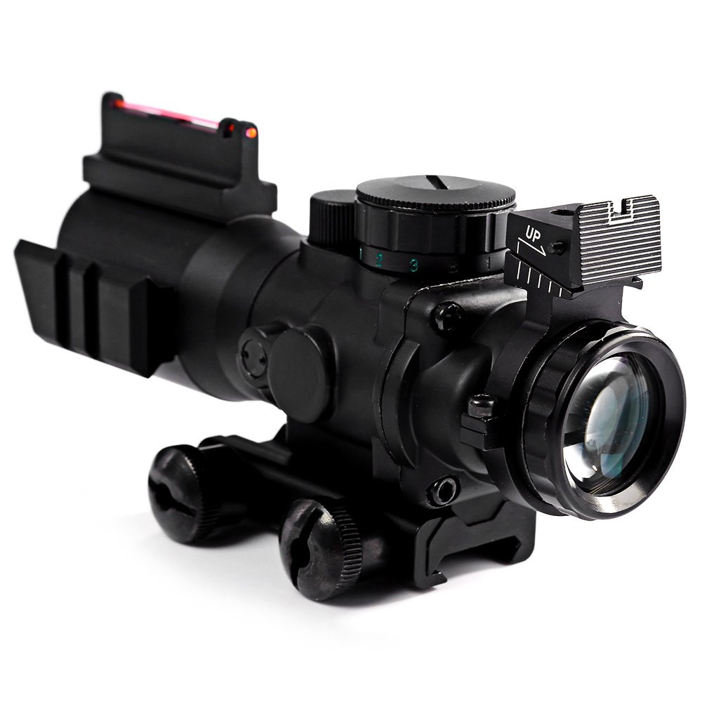 Airsoftsports Tactical M9 4x32 Riflescope Reticle Sniper Red Dot Fiber Optic Sight Rifle Scope Airsoft Sports Gun Hunting fire wolf tactical 4x32 ler red dot sniper scope airsoft sight riflescope rifle scope for hunting shooting