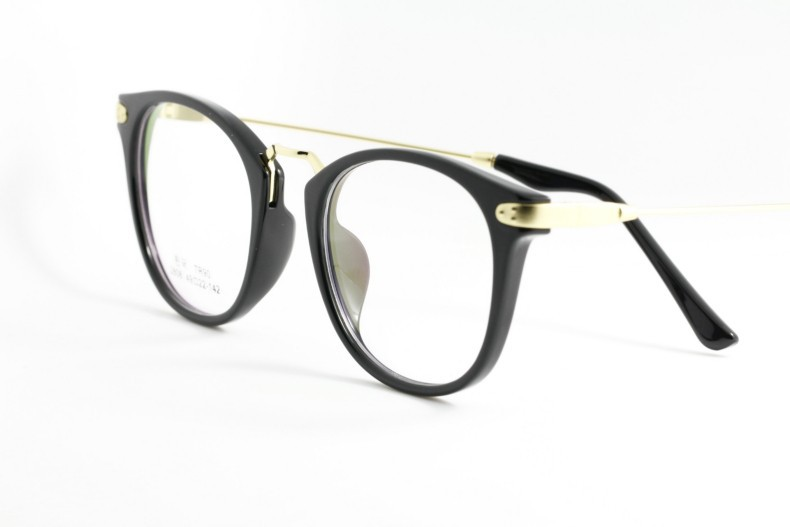 ac2ac3c2a09 Big Round New High quality Black gold fashion frame glasses opitical ...