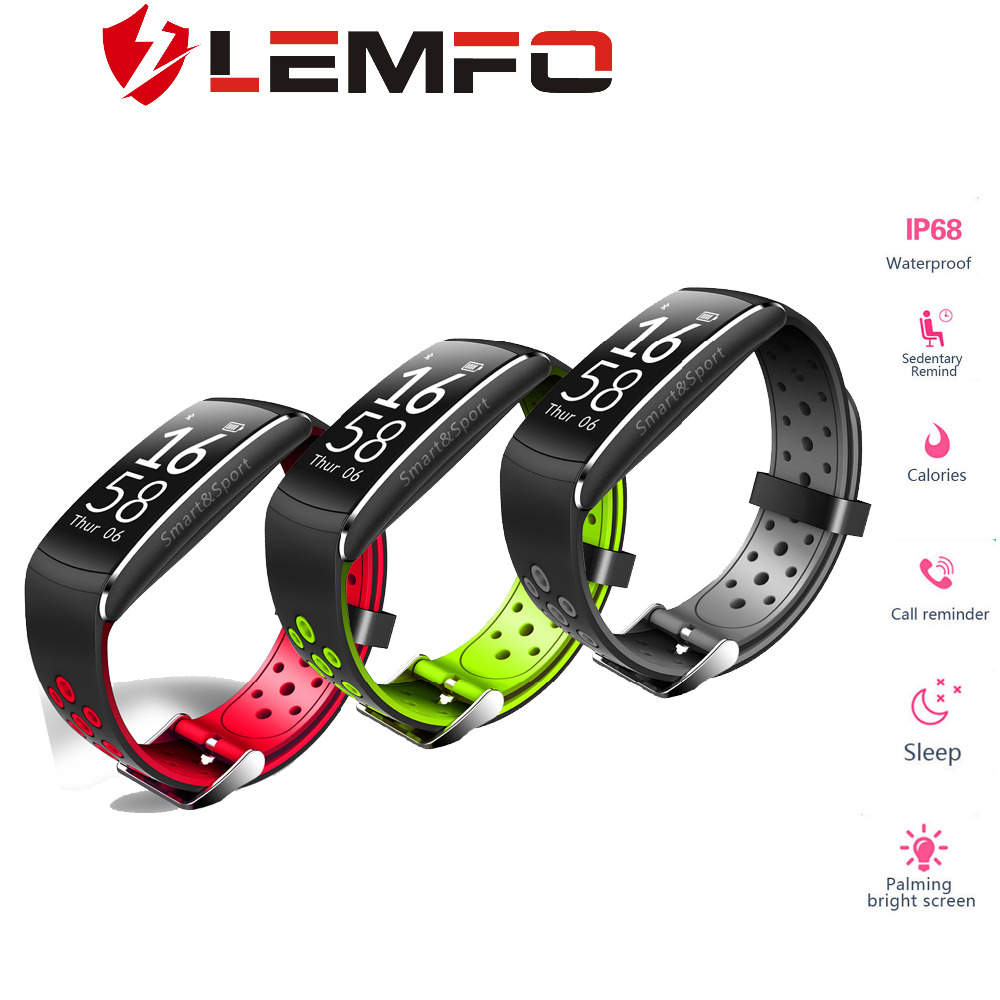 LEMFO Smart Braccialetti Bracciale Fitness Passometer Activity Tracker Intelligente Bracciale Fitness Spinta Messaggio Q8 Impermeabile
