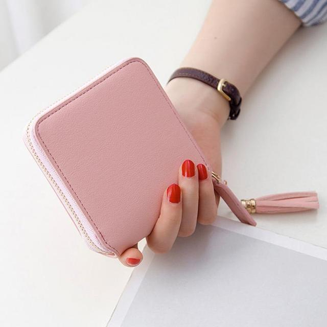 Fashion Small Square Durable Leather Women's Wallet
