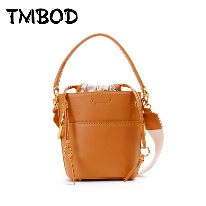 New 2018 Designer Classic Tote Small Drawstring Bucket Women Split Leather Handbags Ladies Bag Messenger Bags For Female an991 new 2017 2 size designer classic casual tote popular women genuine leather handbags ladies bag messenger bags for female an808