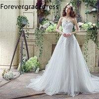 Forevergracedress Cheap High Quality A Line Wedding Dress Sweetheart Sleeveless Long Bridal Gown Plus Size Custom