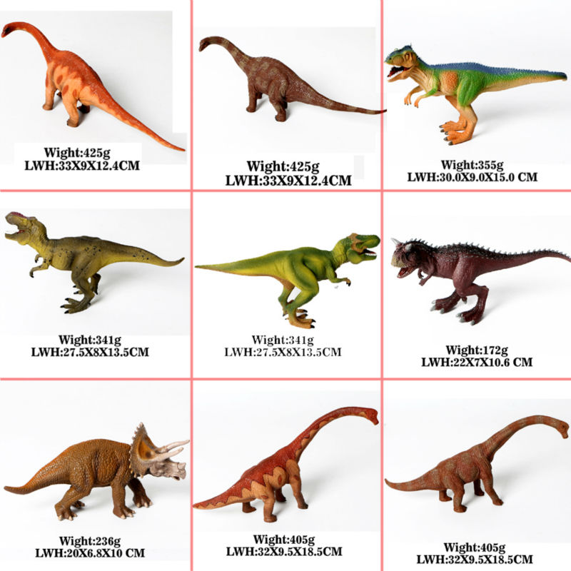 Jurassic Dinosaur Simulation PVC Model Action Figure Toys,apatosaurus,Giganotosaurus,Tyrannosaurus Rex,Carnotaurus,Triceratops jurassic velociraptor dinosaur pvc action figure model decoration toy movie jurassic hot dinosaur display collection juguetes