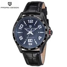 2016 Pagani Design Men Sports Watch Military Watch for Men Japan Quartz Classic Design Dive 3ATM Waterproof Leather Watch