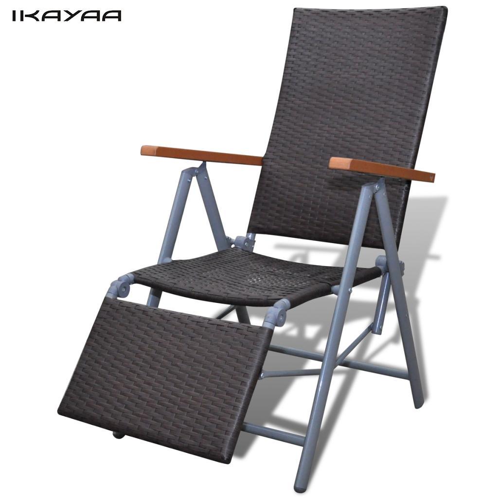 ikayaa marrn marco de aluminio silla de mimbre muebles de jardn relajarse silla es de valores