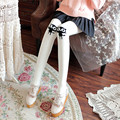 Princess sweet lolita pantyhoseThicken thin trample feet knitting combed cotton female cute knee cartoon kitten pantyhose  LKW44