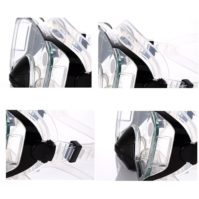 Adults Diving Mask Professional anti fog Scuba Mergulho Underwater Goggles GoPro sea swimming glasses Snorkel Diving Equipment