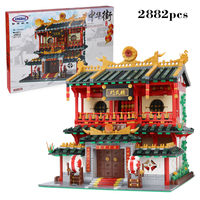 MOC Creative Chinatown Series Bruce Lee The Chinese Martial Arts Set compatible legoinglys City Mini Street View Blocks Toys