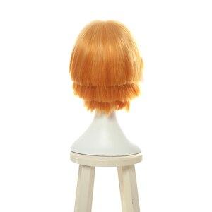 Image 3 - L e mail peruca demon slayer zenitsu agatsuma cosplay perucas kimetsu não yaiba cosplay curto cor mista peruca de cabelo sintético perucas