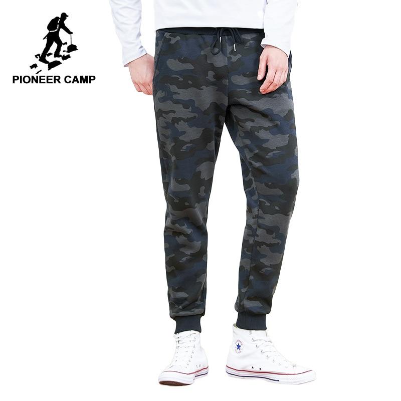 Пионерский лагерь новые зимние толстые флисовые штаны брендовая мужская одежда камуфляж утепленные штаны мужской чистого хлопка джоггеры ...