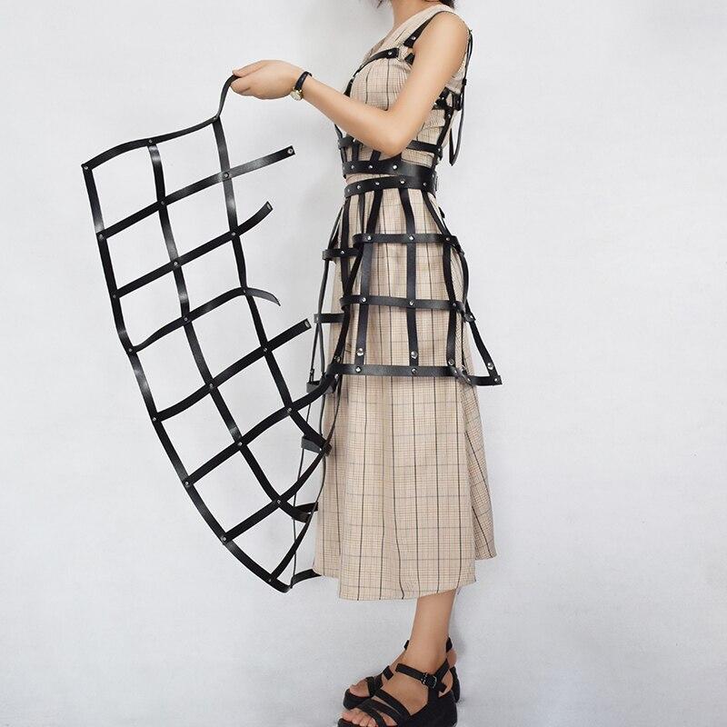 2019 New Women Harness Belts Sexy Garters Grunge Dress Body Bondage Leather Harness Lingerie Set Cosplay Sexy Holographic Rave in Garters from Underwear Sleepwears