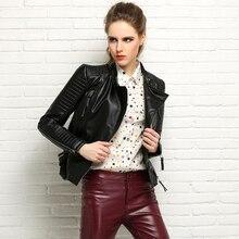 Female Genuine Leather Jacket 100% Real Sheepskin Coat Short Slim Jackets For Women Outerwear jaqueta de couro FP1401