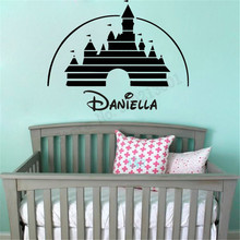 Personalized Name Wall Decoration Cartoon Place Room Sticker Vinyl Art Removeable Poster Mural Decals Kidsroom Girls Decor LY849 цена и фото
