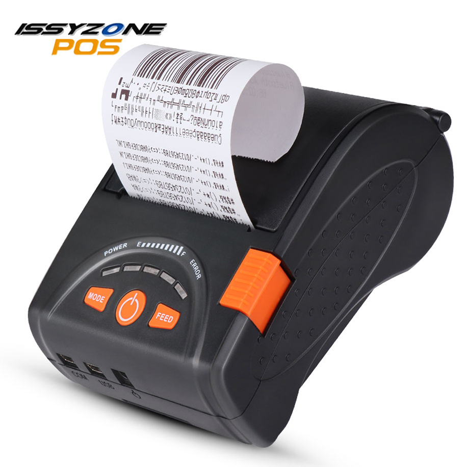 Беспроводной Bluetooth 58 мм Термопринтер Mini-USB портативный мобильный чековый принтер совместим с Loyverse POS бесплатное программное обеспечение
