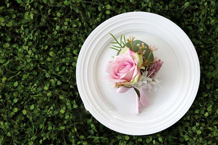 pink wrist corsage boutonniere wedding  (27)