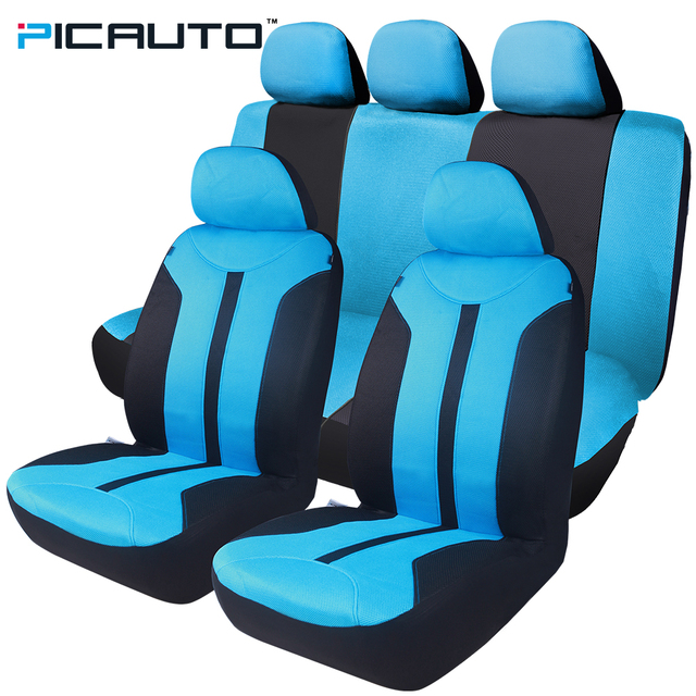 PIC AUTO Seat Covers Universal Fit Cars Protector Auto Car Interior Accessories Full Set
