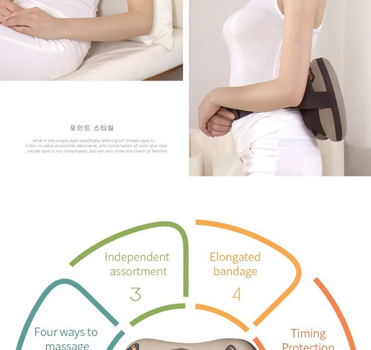 JinKaiRui Vibrating Kneading Neck Body Massager Hammer Pillow Infrared Shiatsu Electric Shoulder Back Massage Massages Car/Home 11