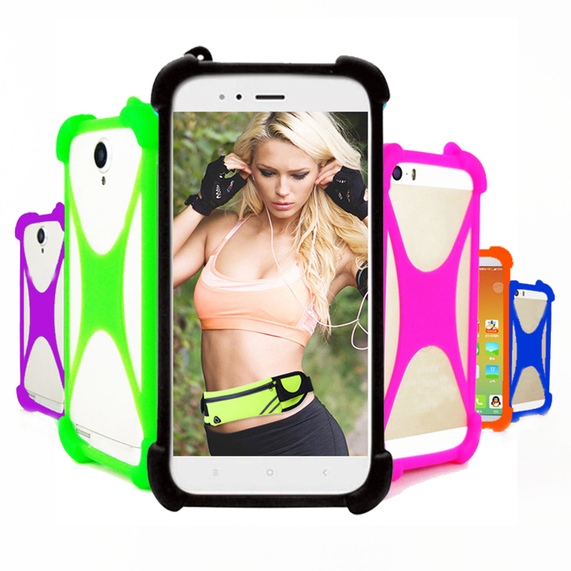 Case For DOOGEE HomTom C8 C2 C1 5.5 inch Universal Silicone Elastic Bumper Cell Phone Cover Case For DOOGEE HOMTOM H1 Phone Case(China)