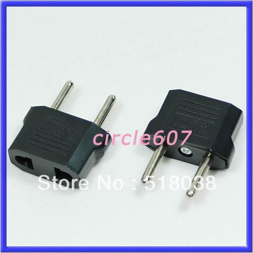 2pcs/lot Travel Changer Adapter Plug US USA to European Euro