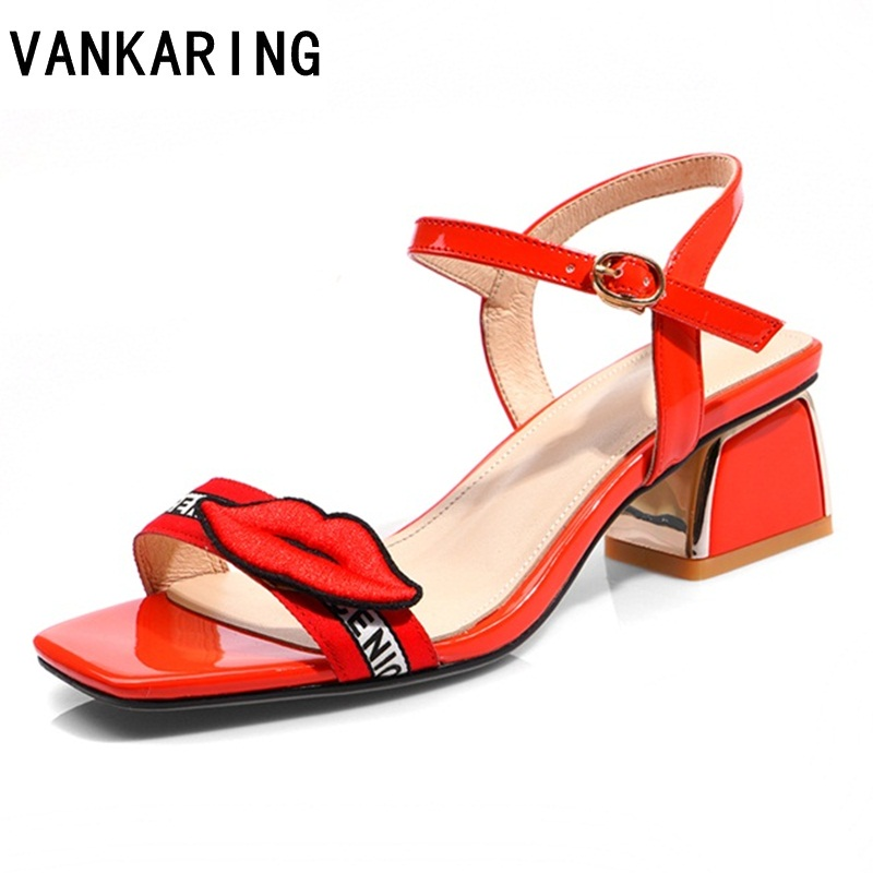 ZVQ summer new fashion super high square heel platform cross tied buckle strap open toe heel