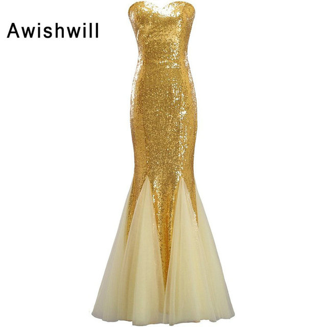 Abendkleid in gold farbe