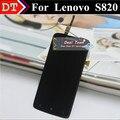 Nova alta qualidade digitador Touch e LCD conjunto completo para Lenovo S820 celular preto