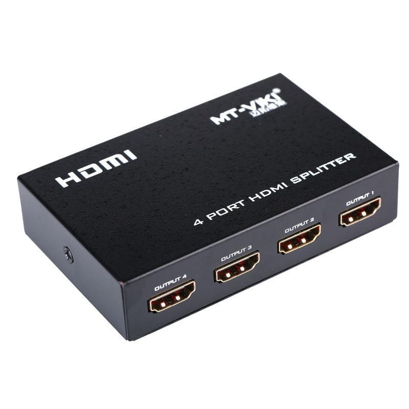 4 Port HDMI Splitter 1x4 HD Distributor 1080P FHD 3D 1 Input 4 Output 5V 2A Power Supply MAITUO MT-VIKI SP104M free shipping lanparte v mount battery pinch power distributor 5v 7 2v 12v 15v with hdmi splitter