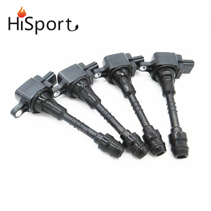 4pcs/set Ignition Coil For 2001-2006 Nissan Sentra 1.8 Almera N16 Primera P11 22448-6N015 22448-6N011 224486N011 цены
