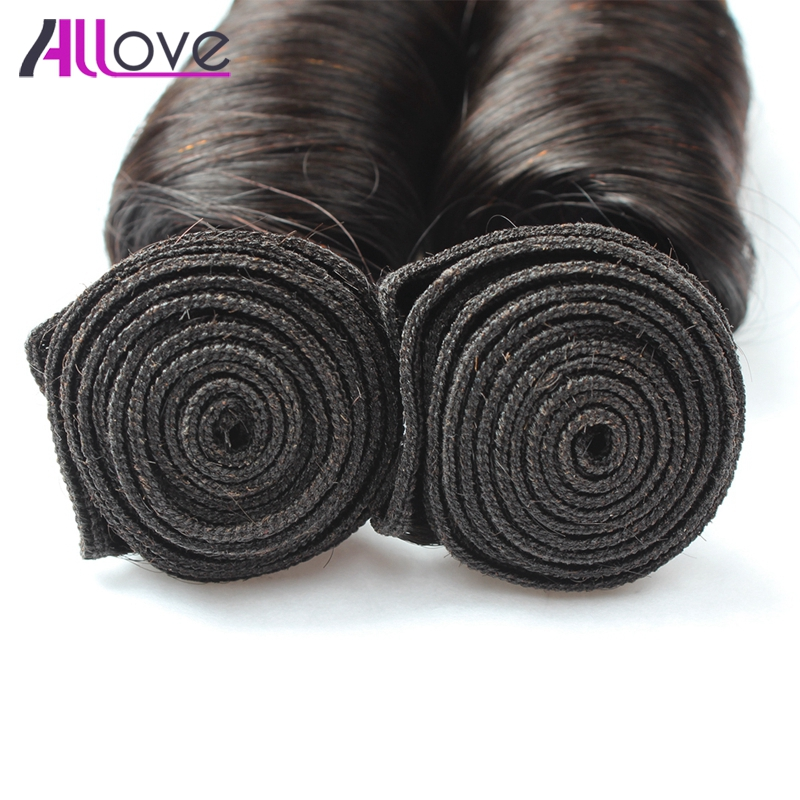 Allove Hair Ombre Spring Curl Brazilian Human Hair 100% Remy Hair Bundles 4 Pieces T1B/4 Two Tone Color Shipping Free 12-24 Inch
