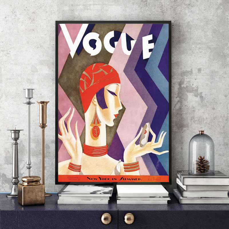 Винтажный Куадрос Vogue рисунок цитаты плакаты и принты холст настенный поп-арт черно-белая живопись скандинавские декоративные картины