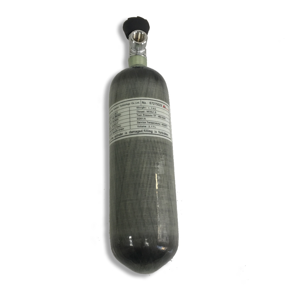 AC121710 2019 CE Certification 2.17L Carbon Fiber Cylinder Paintball Tank With Valve For Pcp Air Gun Hunting Airforce