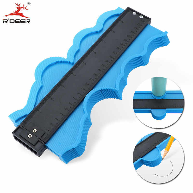 Contour Gauge 5/10inch Profile Copy Gauge Ruler Metric Inch Marking Gauge Shape Duplicator Tiling Laminate Tiles Measuring Tools